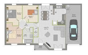 plan maison 3 chambres plain pied garage plan maison plain pied gratuit 3 chambres