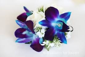 blue orchid corsage blue orchid wrist corsage a for flowersa for flowers