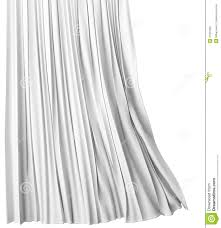 blank white curtain on white background 3d stock illustration
