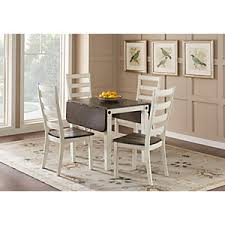 velino white 5 pc rectangle dining set dining room sets colors