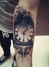 amazing 3d vintage watch tattoo made on lower arm goluputtar com