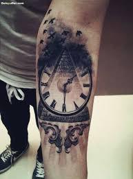 amazing 3d vintage watch tattoo made on lower arm goluputtar com
