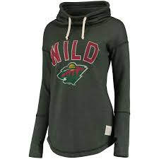 women u0027s minnesota wild original retro brand green funnel neck