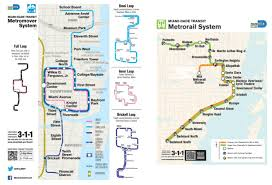 Metro Rail Map by Miami Metrorail Map Metrorail Map Miami Florida Usa