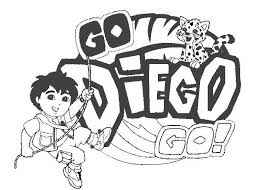 go diego coloring pages zebra and diego explorer coloring pages