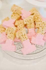 1st birthday ideas 21 pink and gold birthday party ideas rice krispie treats