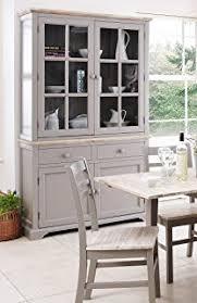 distressed cream kitchen dresser display cabinet storage unit