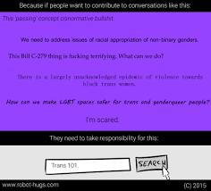 simple comic explains how not to derail conversations about gender