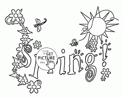 spring season coloring page for kids seasons coloring pages