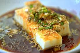chilled tofu with scallions and soy sauce fifteen spatulas