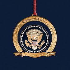 1989 bicentennial of the presidency ornament
