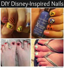 fun diy disney inspired nail art winnie the pooh minnie mouse