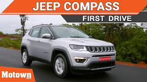 jeep india compass jeep compass first drive motown india youtube
