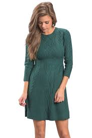 fitted sweater fashion green fitted cable knit sweater dress mb27692 9 modeshe com