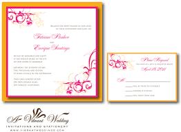 pink wedding invitation u2013 a vibrant wedding