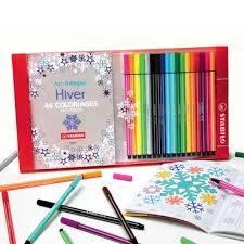 Coffret de coloriage antistress Pen 68  1 carnet à colorier