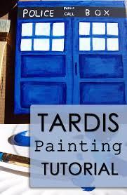top 25 best tardis painting ideas on pinterest tardis art diy tardis canvas painting tutorial