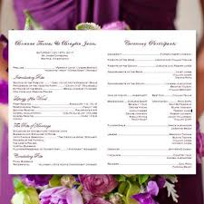 catholic church wedding program catholic church wedding program eggplant purple and silver