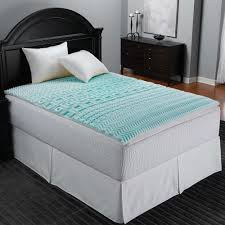 sleep zone 5 zone foam mattress topper in blue bed bath u0026 beyond