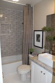 Shower And Tub Combo For Small Bathrooms Gray Marble Subway Tile Wall Panelling Bath With White Bathtub And