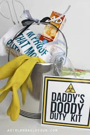 awesome baby shower gifts baby shower gift doody duty kit a girl and a glue gun