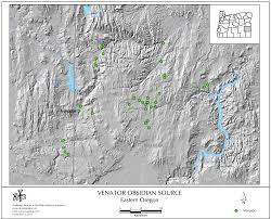 Eastern Oregon Map by Obsidian Source Maps United States