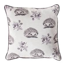 kilburn u0026 scott hedgehog u0026 blackberry 45x45cm cushion plum achica