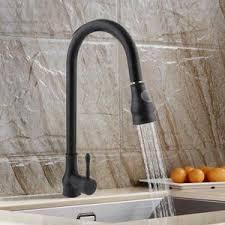 mitigeur cuisine noir avec douchette mitigeur de cuisine noir pour évier robinet en laiton bec mobile
