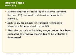 Irs Tax Withholding Tables 11 Current Liabilities And Payroll Financial Accounting 14e Ppt