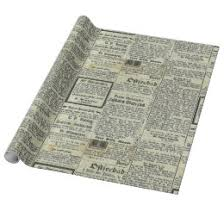 newspaper wrapping paper vintage newspaper wrapping paper zazzle
