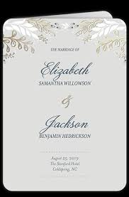 in memory of wedding program unique wedding programs shutterfly