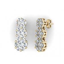 pressure earrings pressure set earring in 18k gold