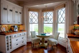 Shabby Chic Kitchen Blinds Bridgeport Kitchen Bay Windows Traditional With Marble Countertops