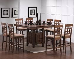 counter height dining room table sets coaster mix and match walnut counter height dining table 101438