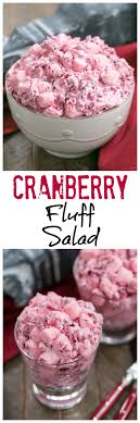 cranberry fluff salad a simple version of this thanksgiving