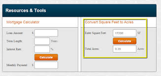 How To Determine Square Footage Of House Convert Square Feet To Acres For Land Lotnetwork Com