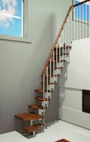 mini plus space saver staircase in walnut