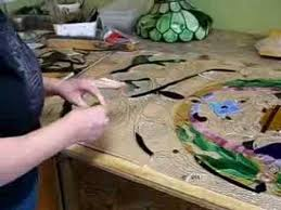 stained glass work table design norwell studio artisans work wonders with stained glass youtube
