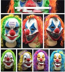 aliexpress com buy scary clown mask joker men u0027s full face party