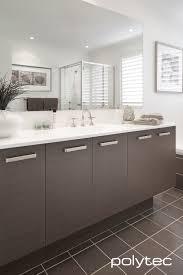 bathroom vanity in polytec melamine truffle lini matt and