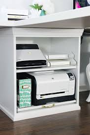 under desk pull out drawer 23 ikea stuva printer cart hack printer cart organizing and shelves