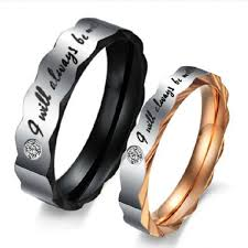 men promise rings i will always be with you fashionable 316l titanium stainless