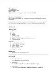 retail warehouse manager sample resume model professional resume
