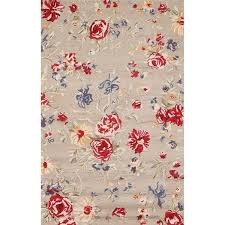 Overstock Rugs 5x8 Handmade Sophie Ivory Wool Rug 5x8 Free Shipping Today