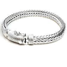 chain braided bracelet images 8 4mm men braided bracelet handcraft 925 sterling silver woven jpg