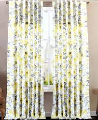 Yellow And Gray Window Curtains Yellow Grey Curtains Bird Window Curtains Yellow And Gray Set Of