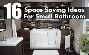 space saving ideas for small bathrooms 16 brilliant space saving ideas for small bathroom diy home