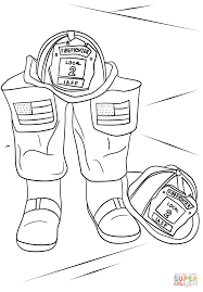 firefighter helmet and boots coloring page free printable