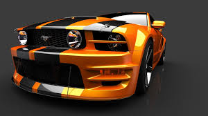 Black And Orange Mustang Ford Mustang Wallpapers And Screensavers Super Backgrounds Of