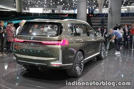 bmw minivan concept bmw concept x7 iperformance rear three quarters right at iaa 2017